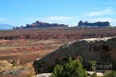 Garden Of Eden Rock Formations, Arches National Park, Moab Utah Poster