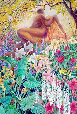 Garden Of Eden Poster by SvetLana Grecova