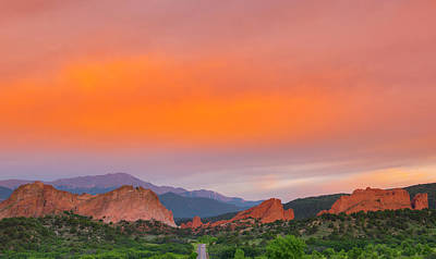 Poster featuring the photograph Garden Of The Gods Sunset by Tim Reaves