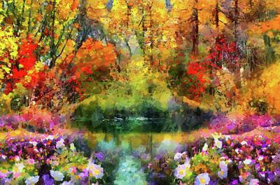 Garden Paradise Poster by Georgiana Romanovna
