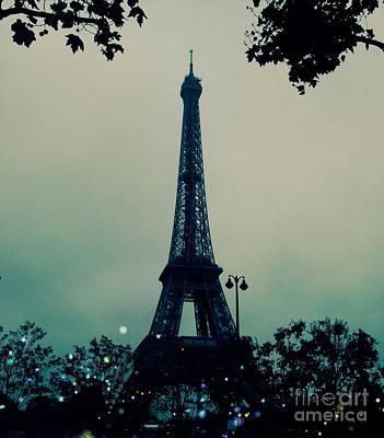 Garden Party Eiffel Tower Poster