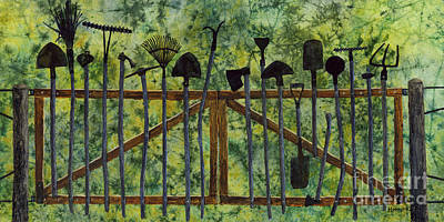 Poster featuring the painting Garden Tools by Hailey E Herrera