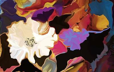 Gardenia In White Poster by David Raderstorf