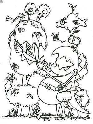 Gardening Monster Poster