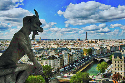 Gargoyle With A View Poster