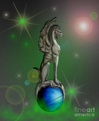 Gargoyles Over Vensus Poster by Cheri Doyle