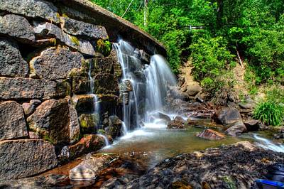 Poster featuring the photograph Garland Falls I by Greg DeBeck