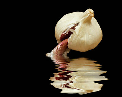 Poster featuring the photograph Garlic Cloves Of Garlic by David French