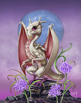 Poster featuring the digital art Garlic Dragon by Stanley Morrison