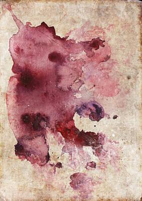 Garnet Color Splash Poster