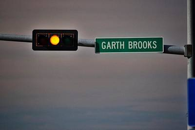 Garth Brooks And Route 66 Poster by Buck Buchanan
