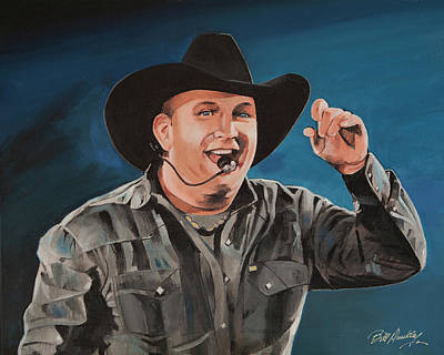 Garth Brooks Poster by Bill Dunkley