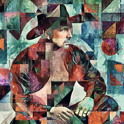 Garth Brooks Poster by Sampad Art