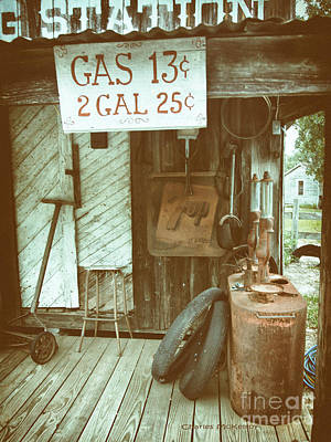 Poster featuring the photograph Gas 13 Cents by Charles McKelroy