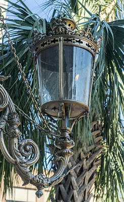Gas Lamp On The Streets Of Charleston South Carolina Poster