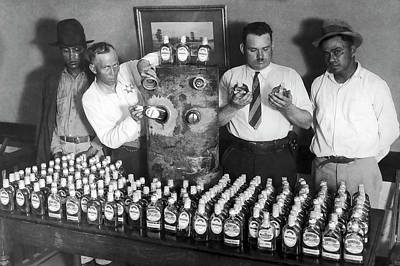 Gas Tank Tequila Bust - Prohibition  C. 1930 Poster
