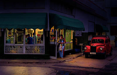 Poster featuring the photograph Gasolinera Linea Y Calle E Havana Cuba by Charles Harden