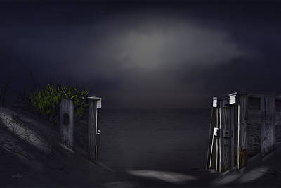 Gate Into Night Poster by Mary Clough