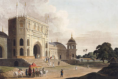Gate Of A Mosque Built By Hafiz Ramut Poster by Thomas and William Daniell