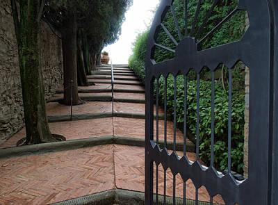 Gate To Castello Vichiamaggio Poster