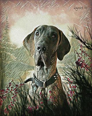 Gauge The Great Dane - Outdoor Poster