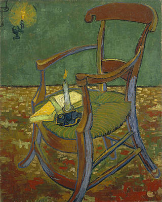 Poster featuring the painting Gauguin's Chair by Van Gogh