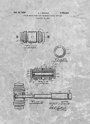 Gavel Patent Poster by Dan Sproul