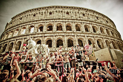 Gay Pride Under Colosseum Poster by Stefano Senise