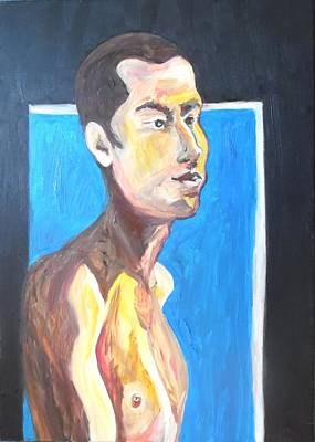 Poster featuring the painting Gay Survivor by Esther Newman-Cohen