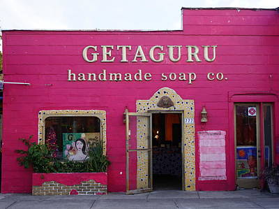 Geaguru Soap Poster by Laurie Perry