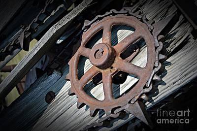 Gear Wheel Poster