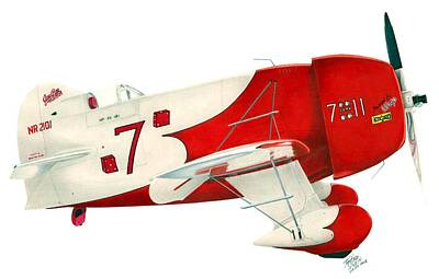 Gee Bee Poster by Lyle Brown