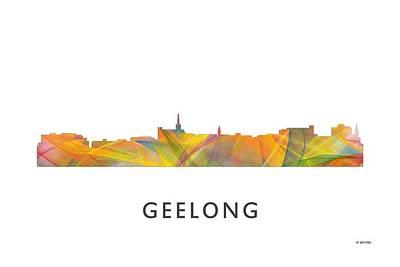 Geelong Australia Skyline Poster by Marlene Watson