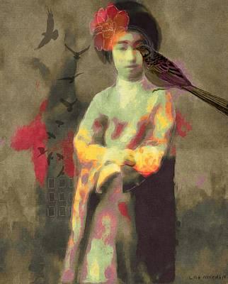 Geisha Girl Poster by Lisa Noneman