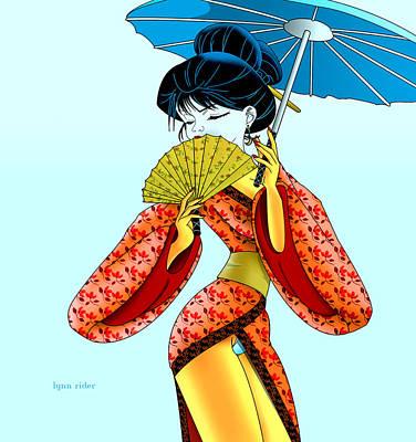 Geisha Girl Poster by Lynn Rider