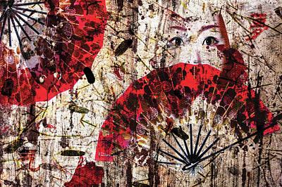 Geisha Grunge Poster