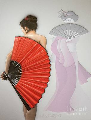 Geisha Poster by Liane Wright