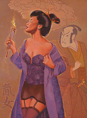 Geishas Gone Bad- Torch Song Poster by Shawn Shea