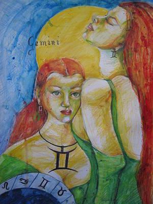 Gemini Poster by Brigitte Hintner