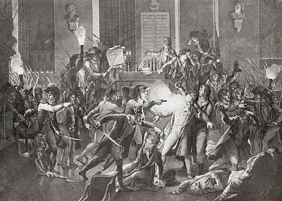 Gendarme Merda Shooting At Robespierre Poster by Vintage Design Pics