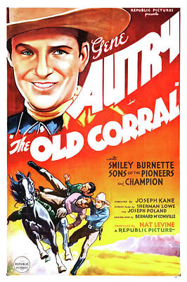 Gene Autry In The Old Corral 1936 Poster by Mountain Dreams