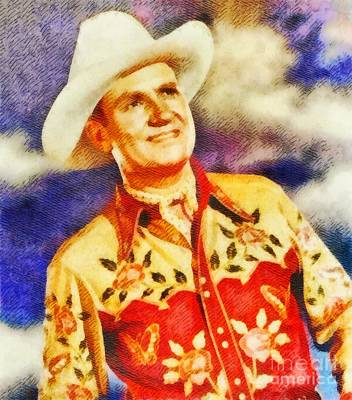 Gene Autry, Vintage Hollywood Legend Poster by John Springfield