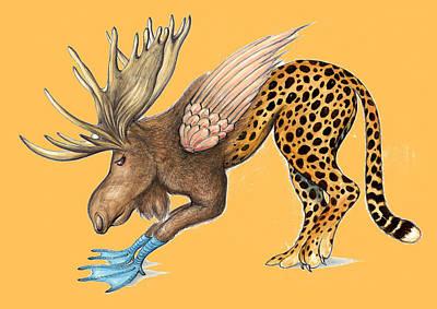 Gene Monster Number 9 - Cartoon Art Poster