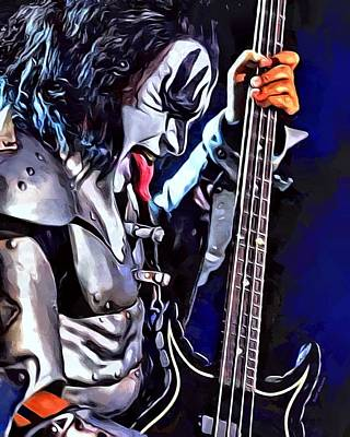 Gene Simmons Painting Poster