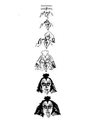 Gene Simmons Process Poster