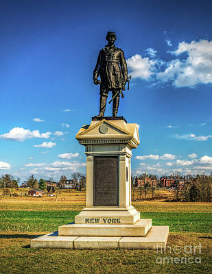 Poster featuring the photograph General Abner Doubleday - Gettysburg National Park by Nick Zelinsky