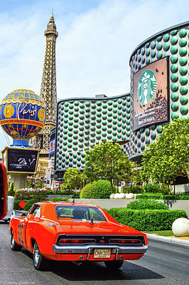 General Lee On The Vegas Strip Poster by Tommy Anderson