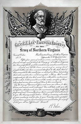 General Robert E. Lee's Farewell Address To Confederate Soldiers Poster