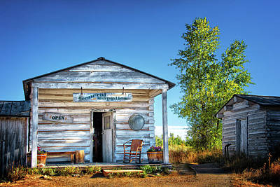 General Store In Grand Tetons Historic District Poster