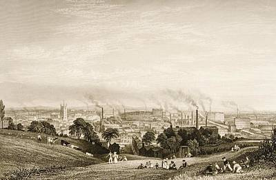 General View Of Stockport, Lancashire Poster